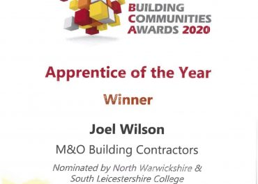 Joel Wilson apprentice of the year